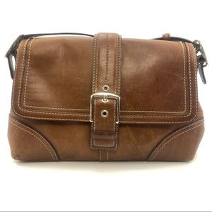 Coach F11196 Brown Hampton Satchel